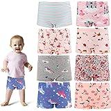 MooMooBaby Toddler Girls Underwear Soft Cotton Panties Seamless Multipack Short Panties Printing Elastic Boxer Briefs Underwe