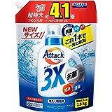 [Amazon限定ブランド]デカラクサイズ アタック3X 超特大 詰め替え 2800g (抗菌・消臭・洗浄もこれ1本で解決!)