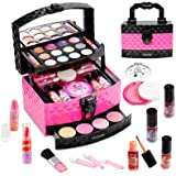 Vextronic Kids Makeup Kit for Girl Princess Makeup Toys - 29 Pcs Real Kids Makeup Set - Washable Pretend Makeup for Girls Pla