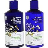 Avalon Organics Anti-Dandruff Shampoo and Anti-Dandruff Conditioner Bundle With 2% Salicylic Acid, Aloe Vera, Tea Tree, Chamo