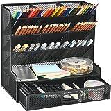 Marbrasse Mesh Desk Organizer, Multi-Functional Pen Holder, Pen Organizer for desk, Desktop Stationary Organizer, Storage Rac