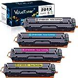 Valuetoner Compatible Toner Cartridge Replacement for HP 201X 201A CF400X CF401X CF402X CF403X CF400A for Color Laserjet Pro