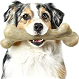 Pet Qwerks REAL BACON Infused Dinosaur BarkBone - Durable Dog Toy for Aggressive Chewers, Tough Power Chewer Bones | Made in