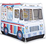 Melissa & Doug Food Truck Fabric Play Tent Playhouse and Storage Tote – Ice Cream on 1 Side, BBQ on the Other