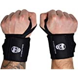 """Gymreapers Weightlifting Wrist Wraps (Competition Grade) 18"""" Professional Quality Wrist Support with Heavy Duty Thumb Loop -"""