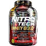 Whey Protein Powder, MuscleTech Nitro-Tech Whey Gold Protein Powder, Whey Protein Isolate Smoothie Mix, Protein Powder for Wo