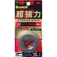 スコッチ 超強力両面テープ プレミアゴールド(スーパー多用途)粗面用 KPR-25 25mm×1M