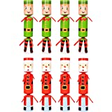 Moon Boat 8 Packs Christmas No-snap No-pop Santa Claus Elf Party Favor Holiday Supplies for Kids Adults