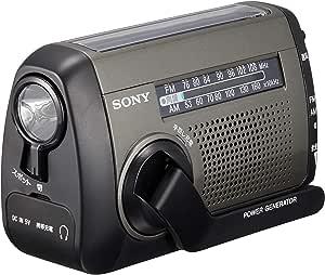 ソニー ポータブルラジオ ICF-B99 : FM/AM/ワイドFM対応 手回し充電/太陽光充電対応 シルバー ICF-B99 S