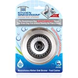 SinkShroom KSS682 Kitchen Revolutionary Clog-Free Stainless Steel Sink Strainer, Black