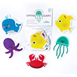 Curious Columbus Non-Slip Bathtub Stickers Pack of 10 Large Sea Creature Decal Treads. Best Adhesive Safety Anti-Slip Appliqu