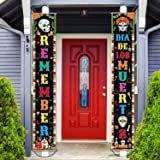 Day of The Dead Decorations Dia de Los Muertos Banner Mexican Party Decorations Porch Sign Day The Dead Banner Hanging Flag F