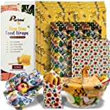 Beeswax Wrap Food Storage Zero Waste Reusable Food Wraps Sustainable Organic and Eco Friendly Sandwich Bags 2 Extra Large, 2