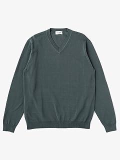 Fine Gauge Cotton V-neck Sweater 1113-106-0236