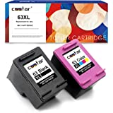 CSSTAR Remanufactured Ink Cartridges Replacement for HP 63 XL 63XL Combo Pack for OfficeJet 5200 4650 3830 5252 5255 DeskJet