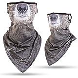 Youdiao Neck Gaiter 3D Animal Balaclava Warmer Bandana Windproof Face Mask Scarf for Ski Halloween Costume