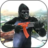 Wild Apes Rampage- Ancient Dead Town Apes Shooting Games