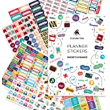 Clever Fox Planner Stickers Set - Monthly, Weekly & Daily Planner Stickers 17 Sheets Set of 1500+ Unique Stickers (Budget Pac