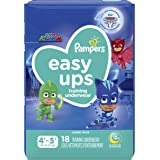 Pampers Easy Ups Training Underwear Boys Size 6 4T-5T 18 Count, (Packaging May Vary)