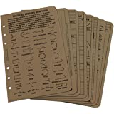 """Rite in the Rain Weatherproof Tactical Reference Card Set, 4.625"""" x 7"""", Tan Sheets (No. 9200T-R)"""