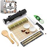 Sushi Ninja - Sushi Making Kit w/ Bazooka Sushi Roller | Avocado Slicer | Sushi Mat | Bamboo Rolling Mat | Sushi Knife | Sush