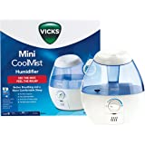 Vicks Mini Cool Mist Humidifier | Better Breathing and a More Comfortable Sleep, Ultra Quiet Operation, No Filters Required,