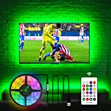 HAMLITE LED TV Backlight for 55 Inch TV Bias Lighting, USB LED Light Strip for TV, Home Theater Decor Kit, RF Remote with 16