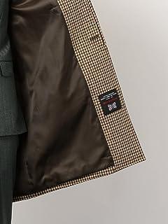 William Bliss Kersey Tweed Balmacaan Coat 3125-157-0434: Brown
