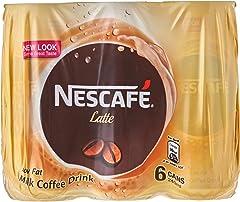 Nescafe Milk Coffee Latte Can, 6 x 240ml