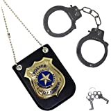 Spooktacular Creations Police Pretend Play Toy Set for School Classroom Dress Up Pretend Play, Detective Role Play Accessory,