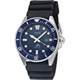 Casio Men's Diver Inspired Stainless Steel Quartz Resin Strap, Black, 25.6 Casual Watch (Model: MDV-106B-2AVCF)