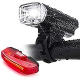 Bike Lights,Bike Headlight with [Free Biicycle Taillight], LERMX USB Rechargeable Waterproof Bicycle Lights Set Powerful Lume