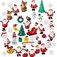 40 Pieces Christmas Miniature Ornaments Resin Miniature Fairy Garden Dollhouse Decoration Ornaments DIY Kit Christmas Pendant