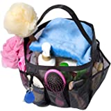 Attmu Mesh Shower Caddy, Quick Dry Tote Bag Oxford Hanging Toiletry and Bath Organizer with 8 Storage Compartments for Shampo