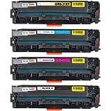Miss Deer Canon(キャノン) CRG-318互換トナーカートリッジ 4色セット CRG-318(BK/C/M/Y) LBP7200C /LBP7200CN /LBP7600C /MF8570Cdw /MF8530Cdn /MF8330C