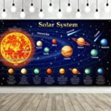 Solar System Decorations Large Fabric Outer Space Poster Banner Space Theme Backdrop Background for Kids Boys Space Birthday