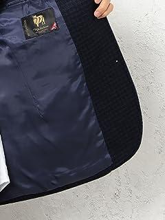 Mallalieus Tweed Jacket 3222-199-0306: Navy Houndstooth