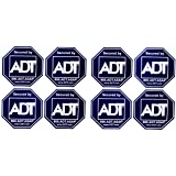 8 - ADT Sticker Decals - Double-Sided Authentic Dark Blue