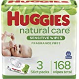 Huggies Natural Care Sensitive Baby Wipes, Unscented, 56 Count (Pack of 9)