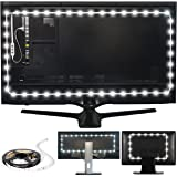 """Luminoodle USB Bias Lighting - Large (9.8 feet, 30"""" to 40"""" TV) - 6500K LED Backlight Strip, Ambient Home Theater Light, Accen"""