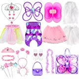 Sinuo Girl Dress Up Set Princess, Fairy and Mermaid Role Play Costumes Christmas Party Dress-up Trunk with Accessories 25pcs