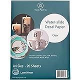 Hayes Paper, Waterslide Decal Paper LASER CLEAR 20 Sheets Premium Water-Slide Transfer Transparent Printable Water Slide Deca