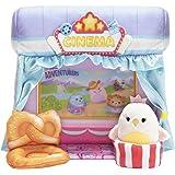 Squishville Mini-Squishmallows Cinema Playset - Includes One 2-Inch Mini Plush, One Pretzel Chair, One Popcorn Bucket - Irres