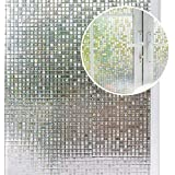 Arthome 23.6 x100 inch Privacy Window Glass Films No Glue Frosted Static Cling UV Protection Heat Control Home Decorative for