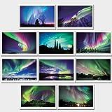 絶景 オーロラ オリジナルポストカード 10枚セット ヨコ