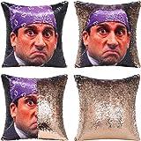 Tiaronics Magic Reversible Sequin Pillow Cases Mermaid Pillow Cases Throw Pillow Covers Cushion CoverDecorative Pillowcase 4