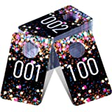 Jetec Live Plastic Number Tags Consecutive Live Number Tag, Reusable Normal and Reversed Mirrored Image Number Tags for Live,