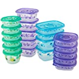 Glad Large Variety Pack Food Storage Containers, Clear, 20 Count
