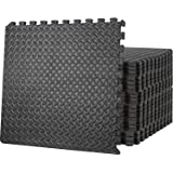 Starkhausen 96 Square Feet Puzzle Exercise Mat, EVA Foam Interlocking Tiles, Protective Flooring for Home Gym, Kids/Baby Play