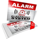 imaggge.com 12 x Security Alarm Warning Sign Stickers - Alarm - Electronic System - for Internal and External use - Protectio